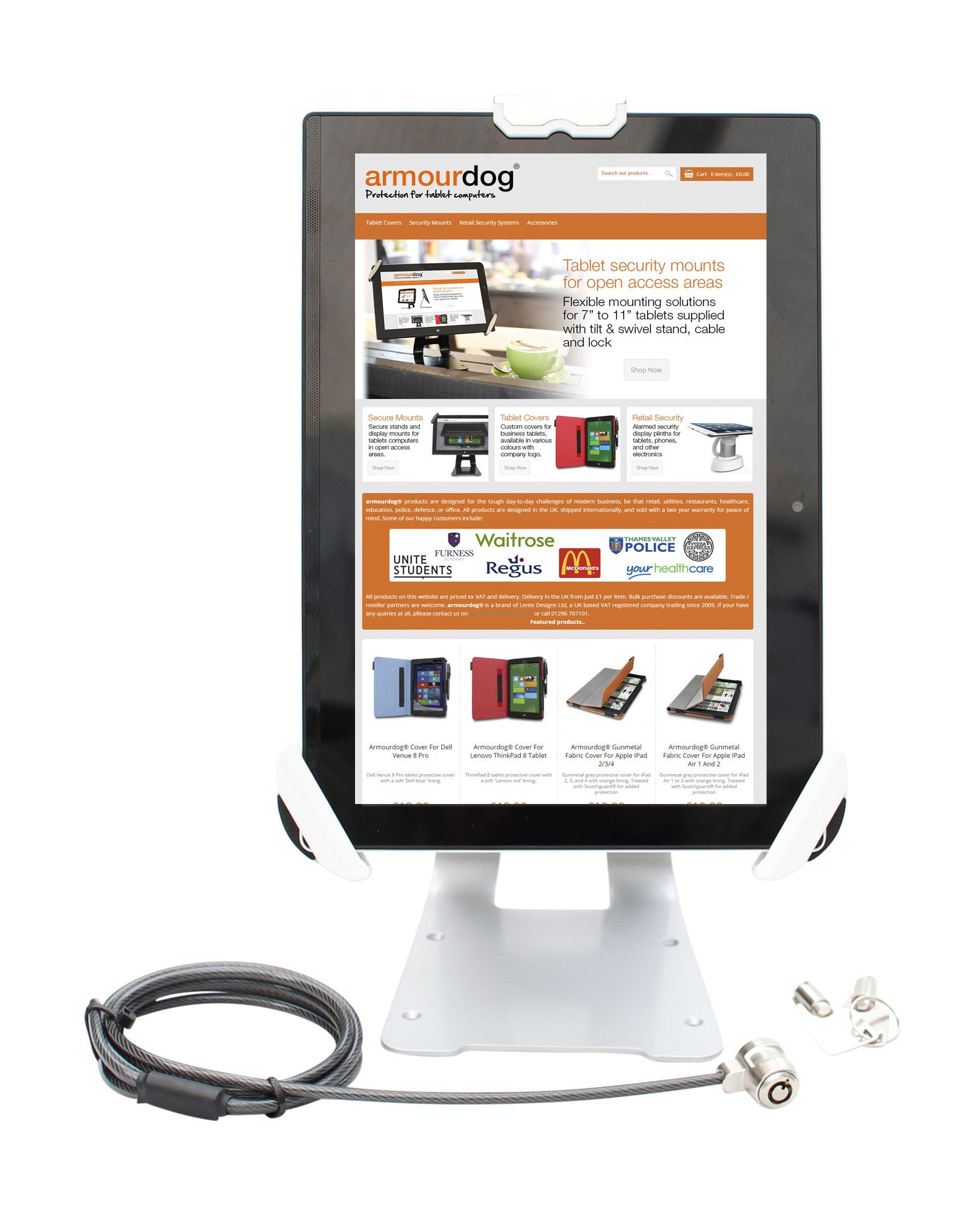 armourdog secure flexible security mount stand for 7 9 to 13